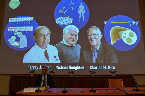 A hepatitis C vírus felfedezéséért hárman kapják az orvosi Nobel-díjat