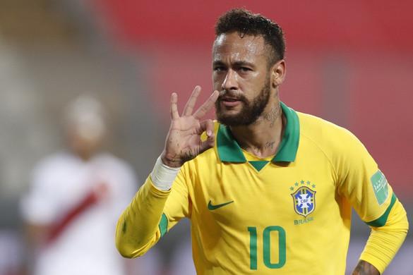 Neymar mesterhármast lőtt, már csak Pelé előzi meg a válogatott góllövőlistáján