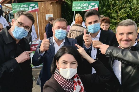 Karácsony, Kunhalmi, Márki-Zay és Jakab is az antiszemita jelölt mellett kampányolt