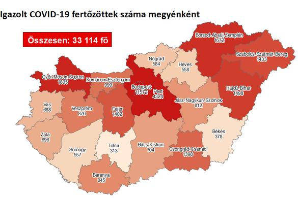 816 fővel nőtt a fertőzöttek száma Magyarországon