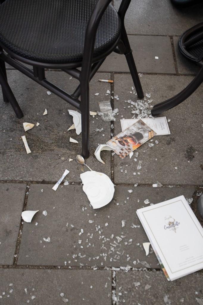 Ilyen állapotok voltak támadás helyszínén, a Schwedenplatzon