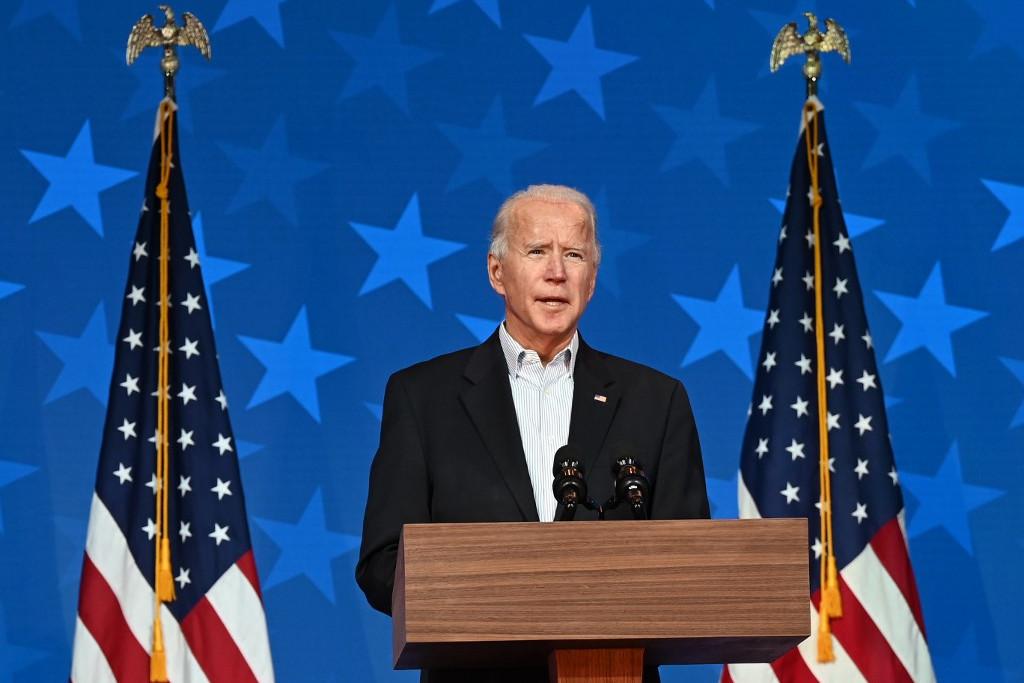 Joe Biden az eredményvárón