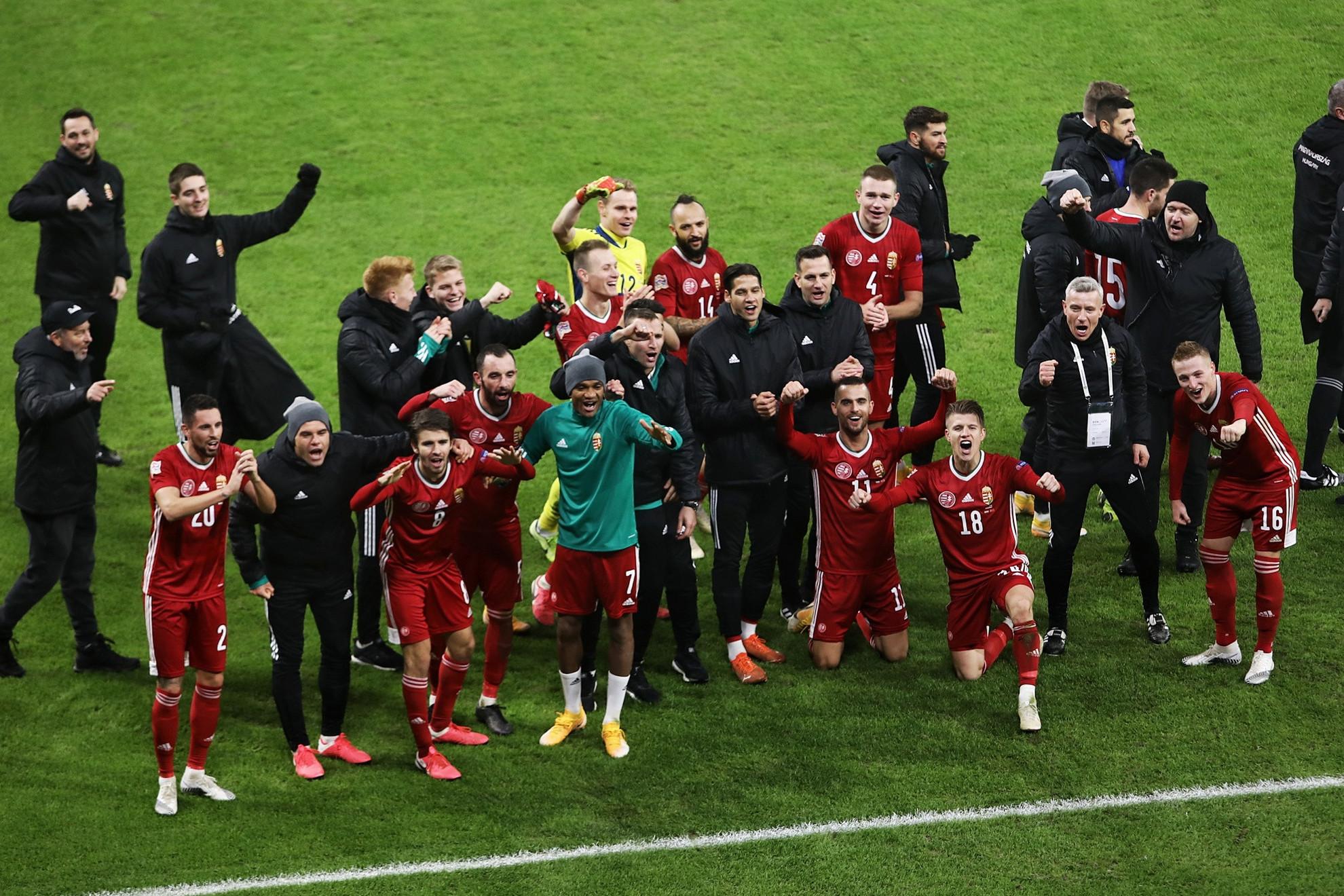 A magyar labdarúgó-válogatott megnyerte csoportját a Nemzetek Ligája másodosztályát jelentő B divízióban