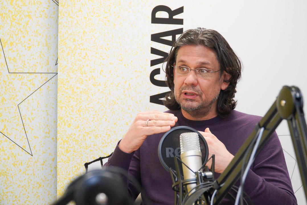 Deutsch Tamás a Faktum podcast adásának felvételén
