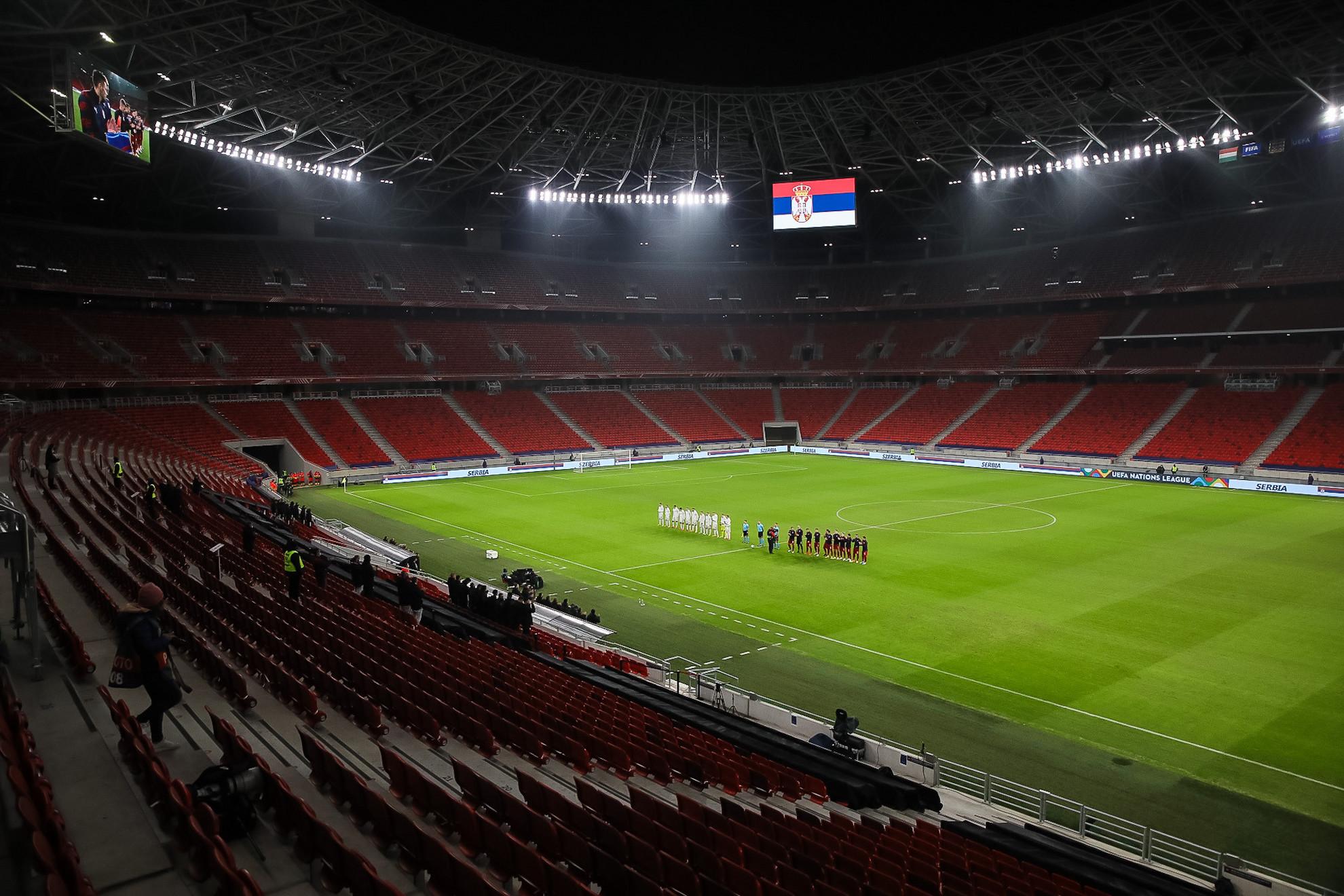 Az üres Puskás Arénában néztünk szembe a szerbekkel