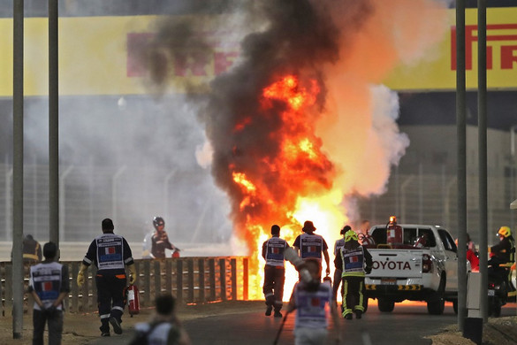 Az elmúlt évek legnagyobb balesete a Forma–1-es Bahreini Nagydíjon