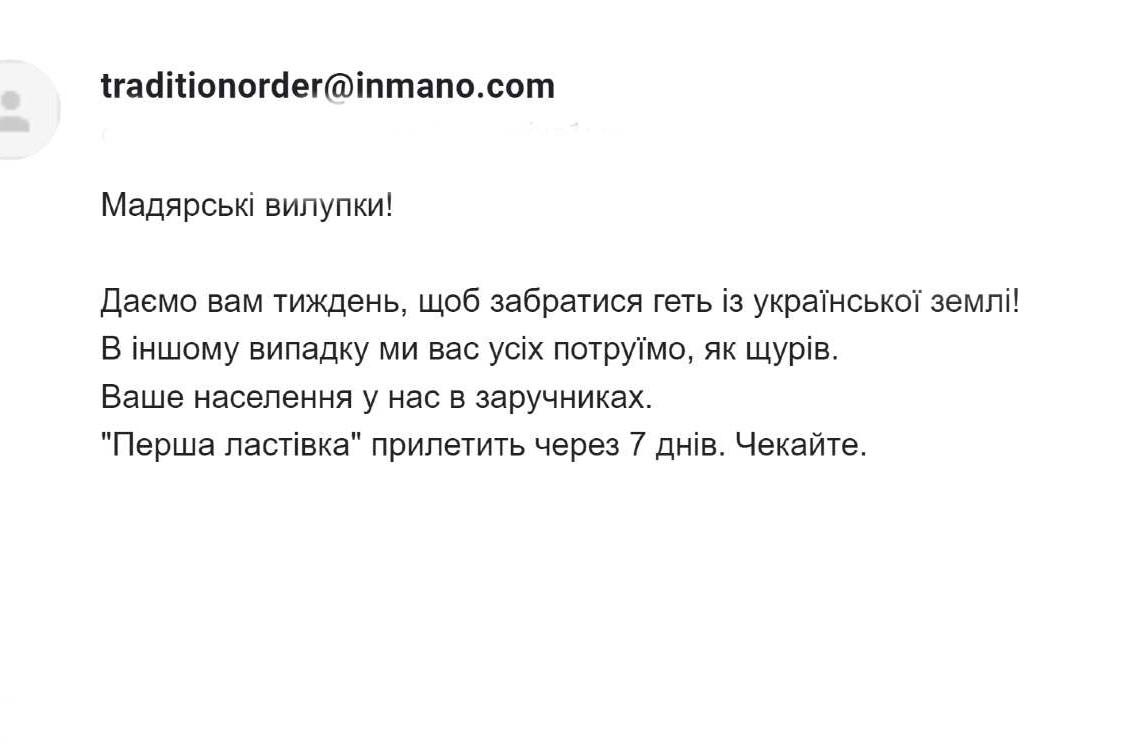 Fenyegető levelet kaptak a kárpátaljai magyarok