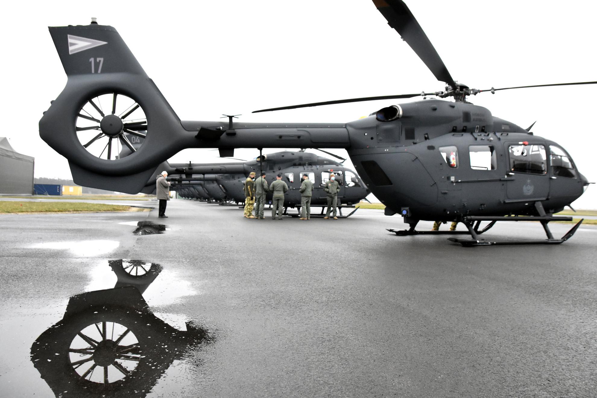 Új Airbus H-145 típusú helikopterek az MH 86. Szolnok Helikopter Bázison 2020. december 18-án