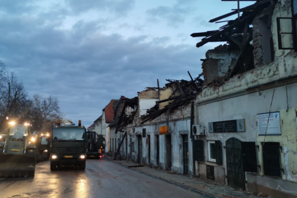 Továbbra is reng a föld Horvátországban