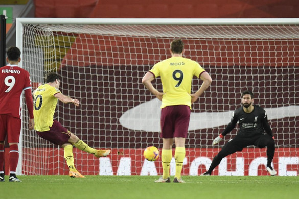 A Burnley vetett véget a Liverpool hazai veretlenségének