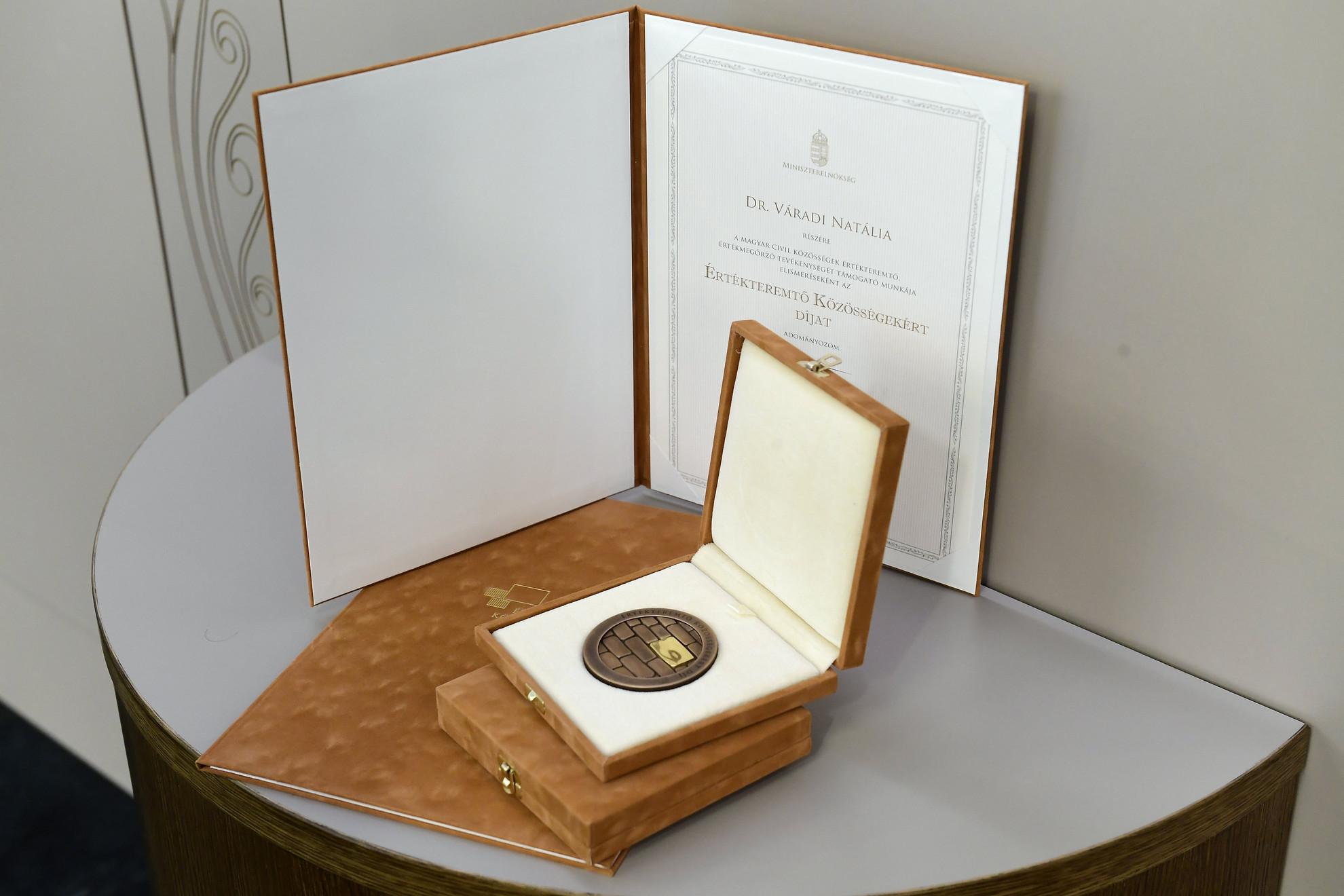Az Értékteremtő Közösségekért díj