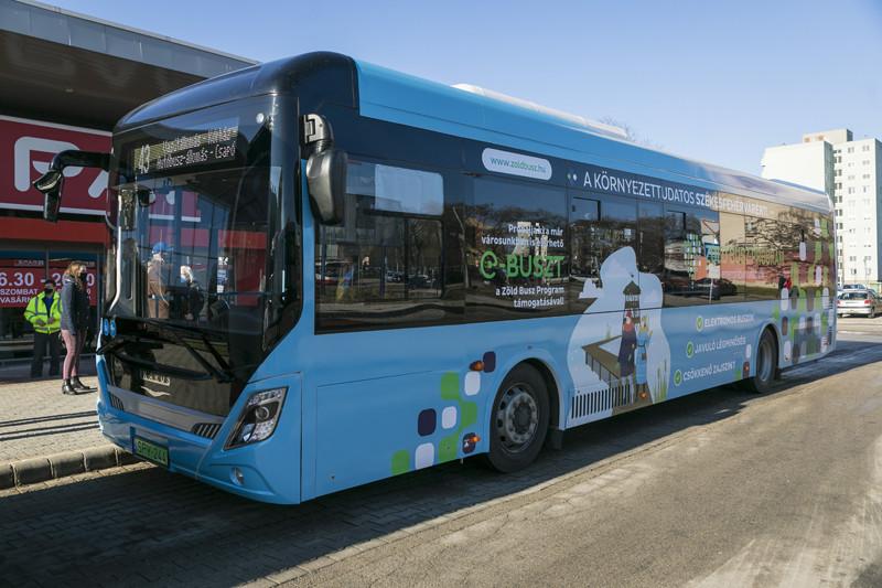 Hétfőtől egy hónapig egy elektromos meghajtású Ikarus City Pioneer típusú busz állt menetrend szerinti forgalomba