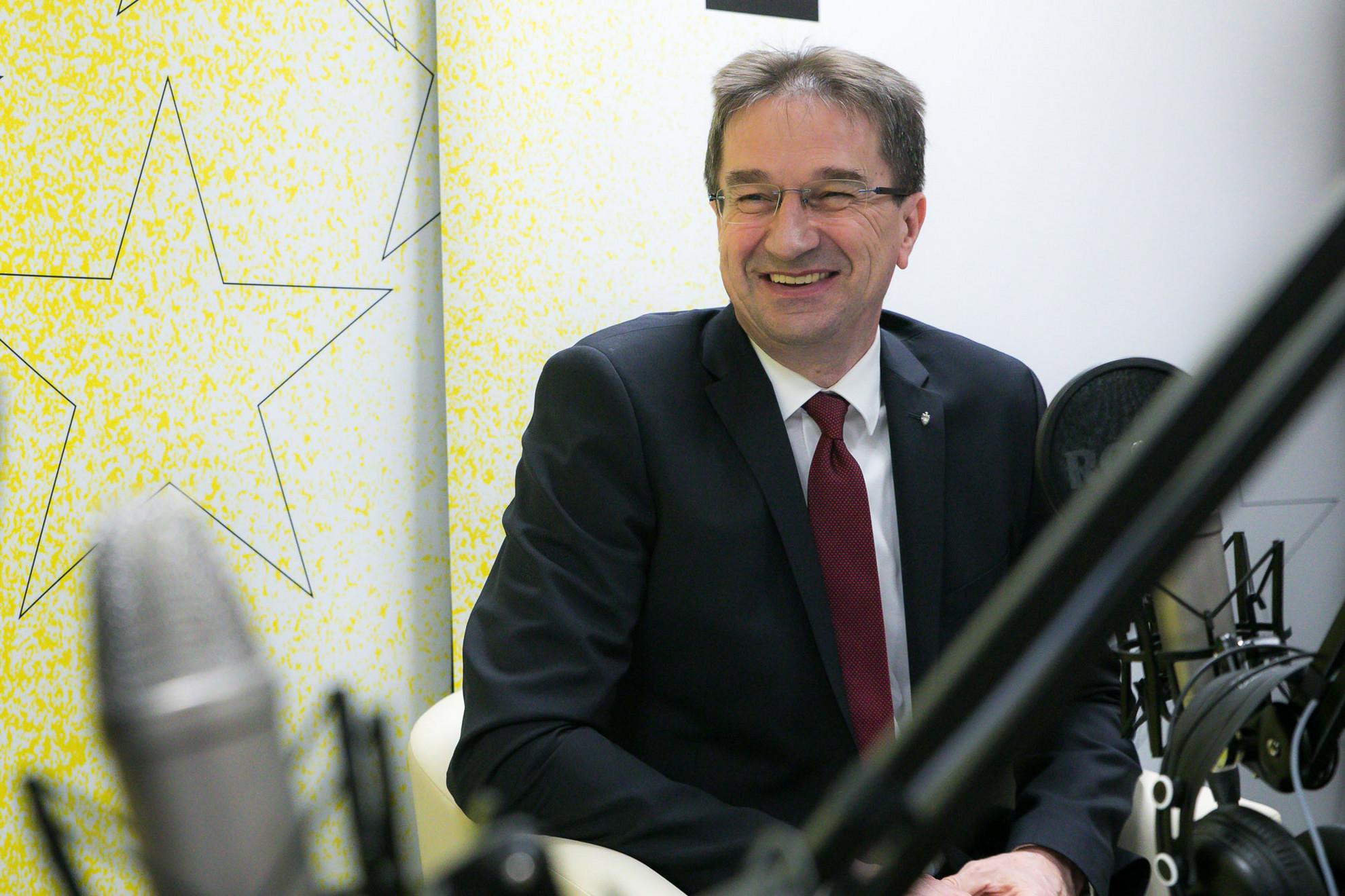 Völner Pál, az Igazságügyi Minisztérium parlamenti államtitkára a Faktum adásának felvételén