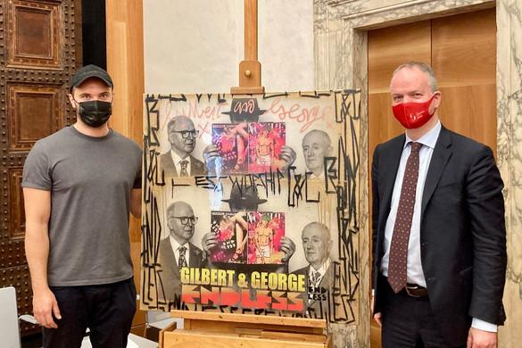 Először került az Uffizi gyűjteményébe egy kortárs utcaművész alkotása