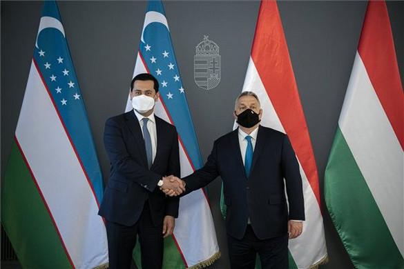 Az üzbég miniszterelnök-helyettessel tárgyalt Orbán Viktor
