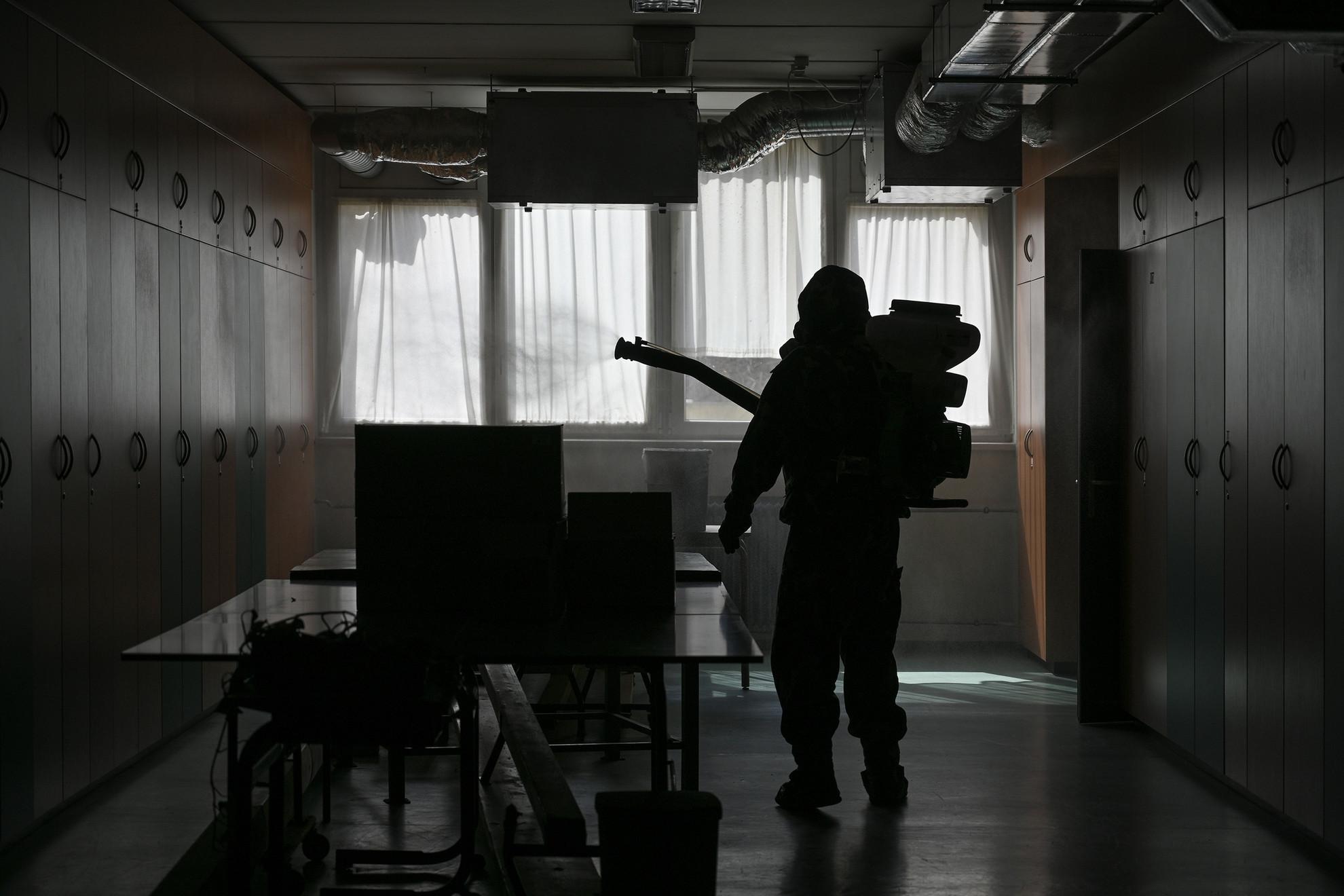 Honvédség- Iskola fertőtlenítés