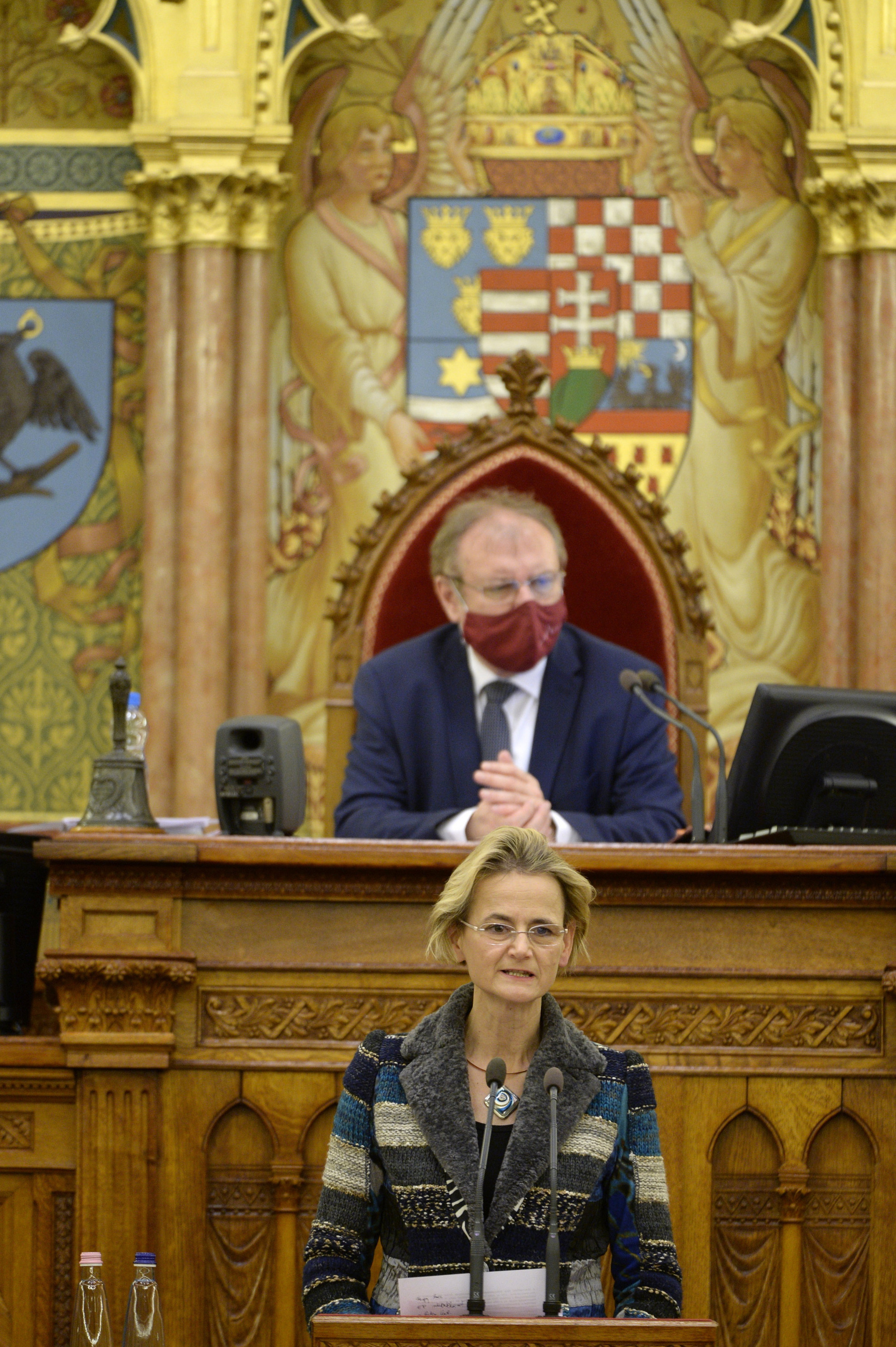 Győri Enikő, a Fidesz EP-képviselője előre bejelentetten felszólal a 2021-27. évi ciklus EU-s forrásainak felhasználásáról szóló vitában az Országgyűlés plenáris ülésén 2021. március 22-én