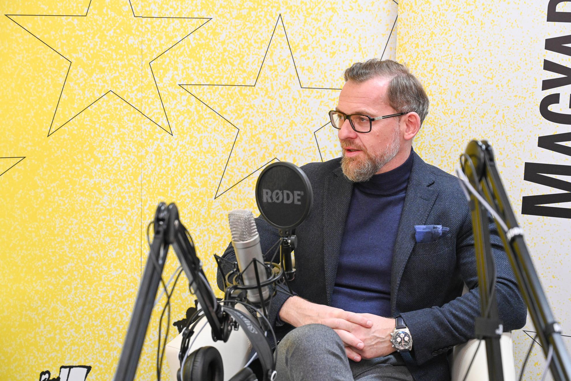Kötter Tamás író a Faktum műsorának felvételén
