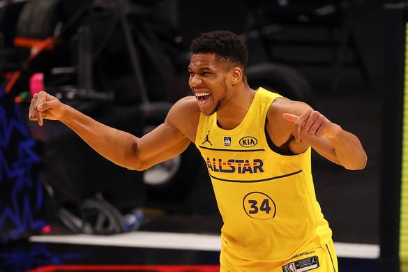 """NBA: A """"Görög Szörny"""" az All Star-gálán is ellopta a show-t"""