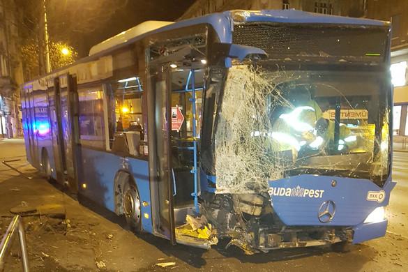 Kidöntött egy fát egy éjszakai busz Budapesten