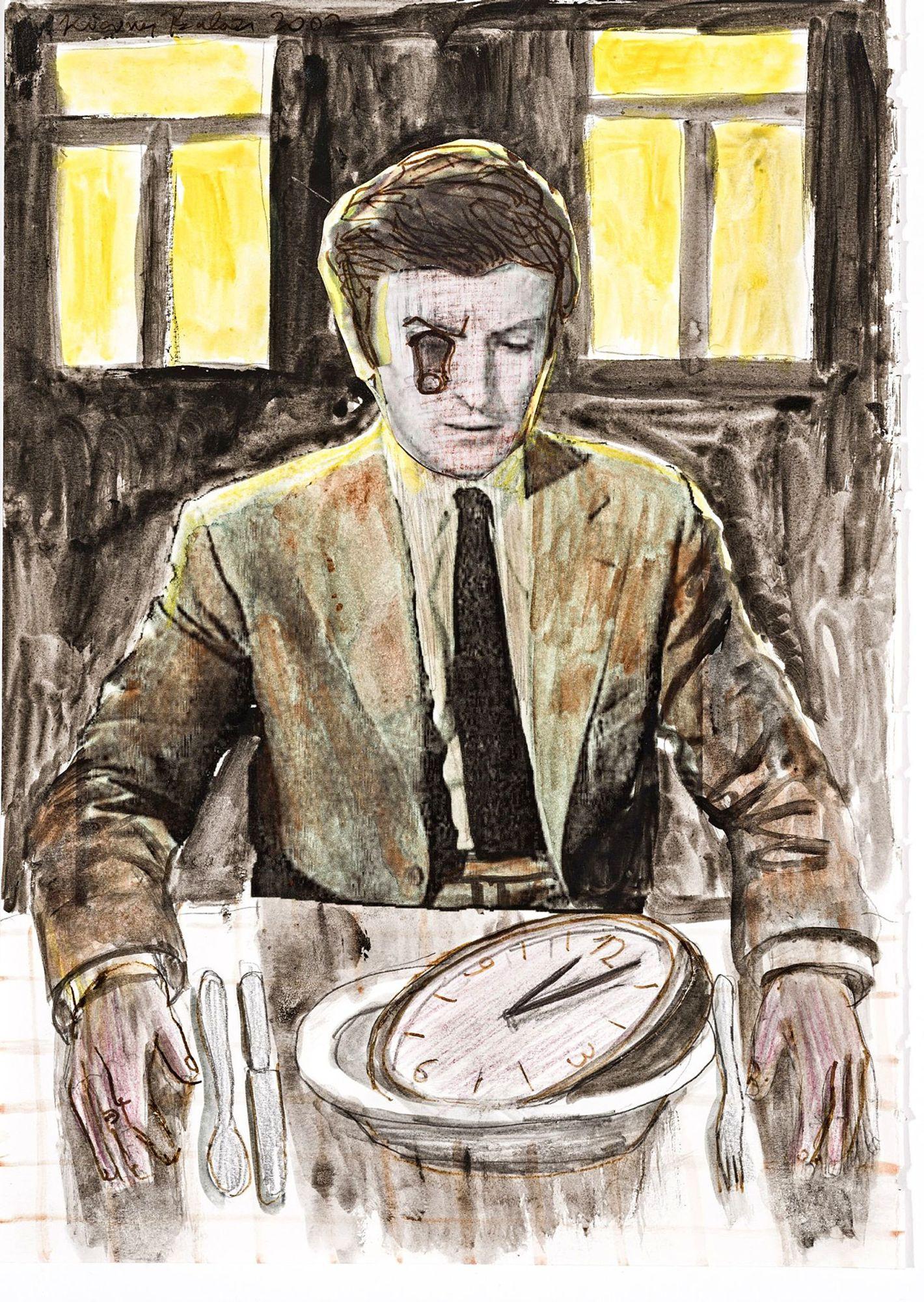 Kicsiny Balázs Az órásmester ebédje – hazatérés III. című képe a #raktárszerda kampányban tűnt fel