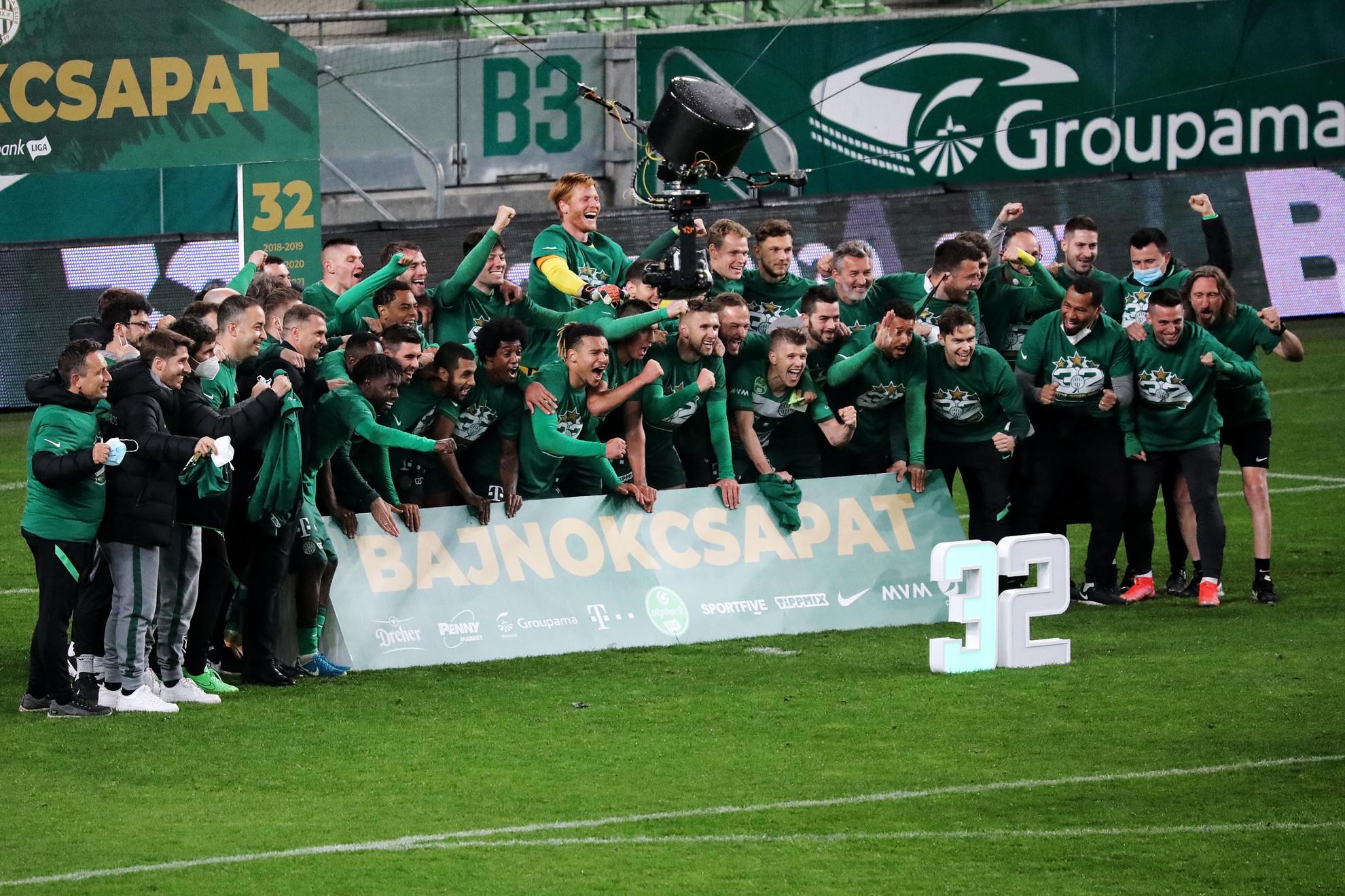 Sorozatban harmadszor, története során 32. alkalommal lett bajnok a Ferencváros