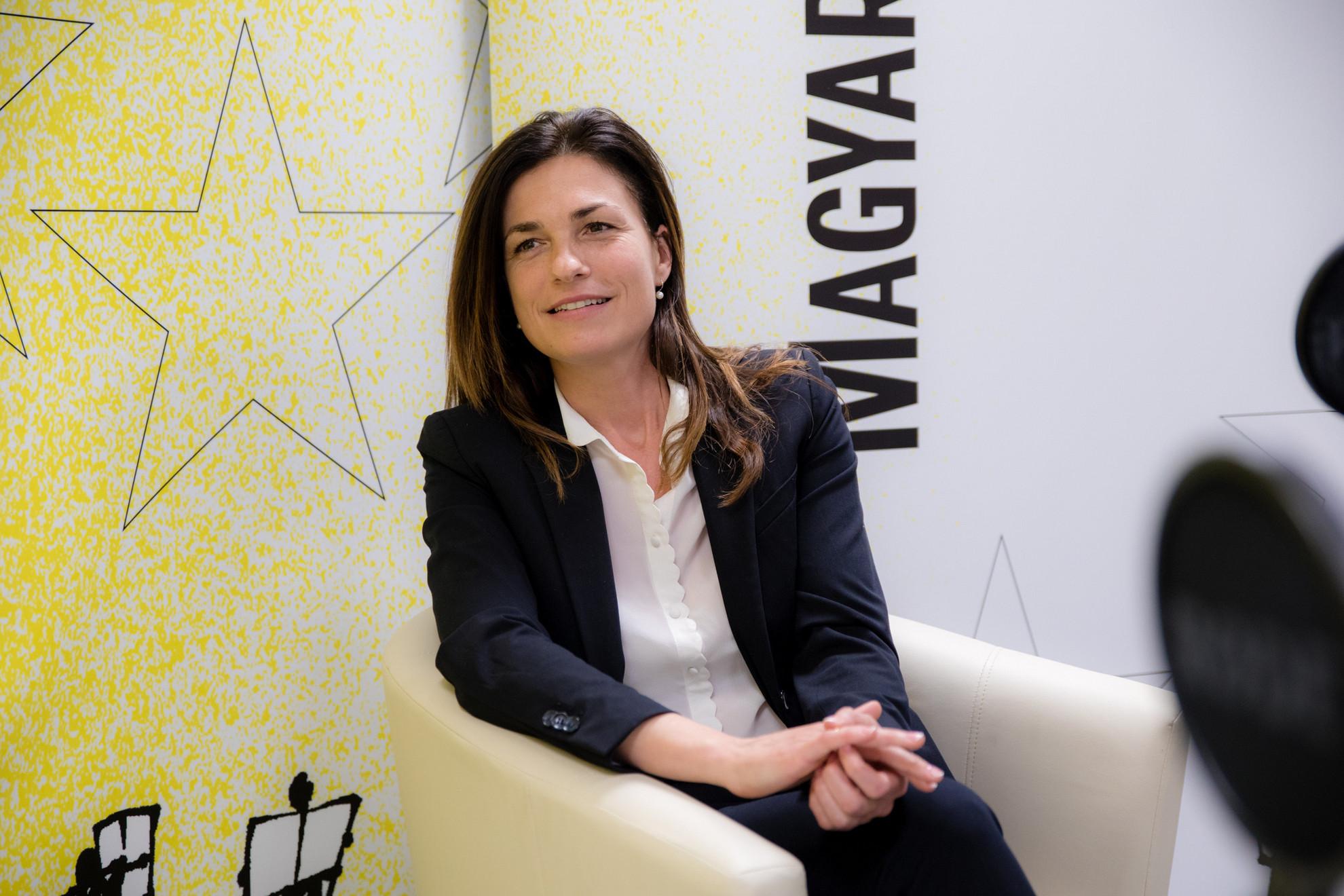 Varga Judit igazságügyminiszter a Faktum műsorának felvételén