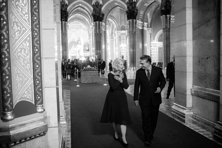Orbán Viktor elbúcsúzott Lady Valerie Soltitól