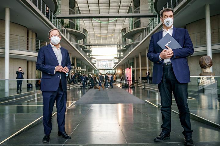 Tovább folytatódik Armin Laschet és Markus Söder versengése a CDU/CSU kancellárjelöltségéért