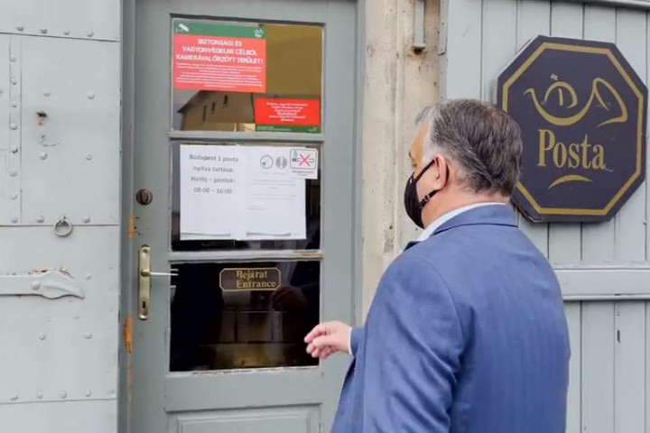 Táviratot adott fel Orbán Viktor