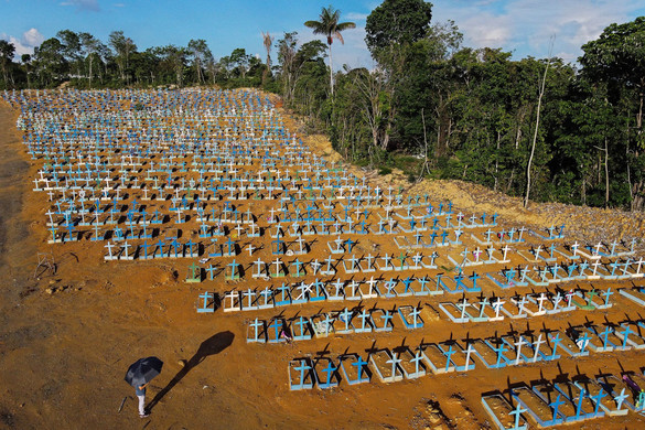 Brazíliában először emelkedett négyezer fölé a napi halálozás