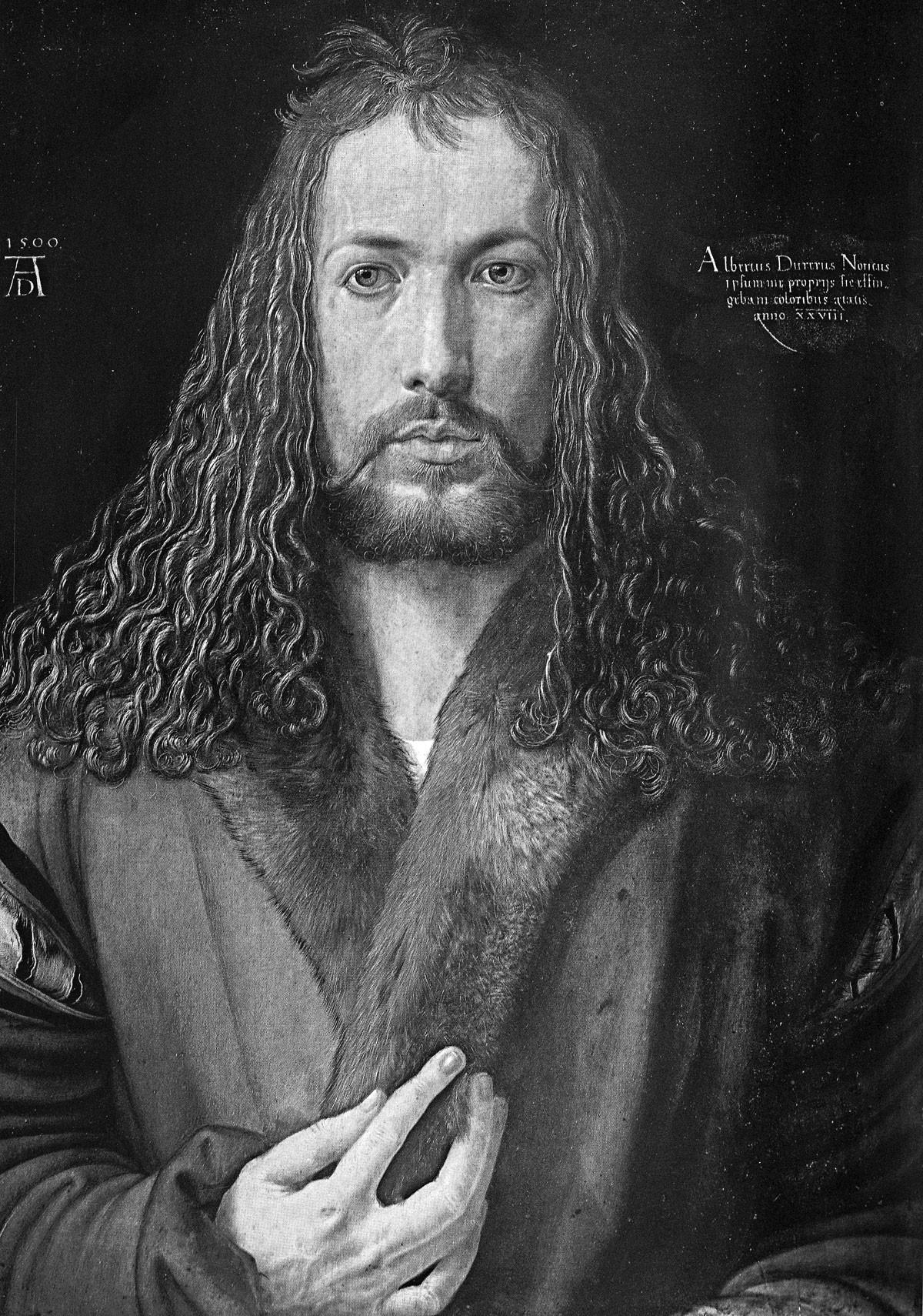 Dürernek ez az Önarcképe egyike a világon a legismertebbeknek, 1500-ban készült