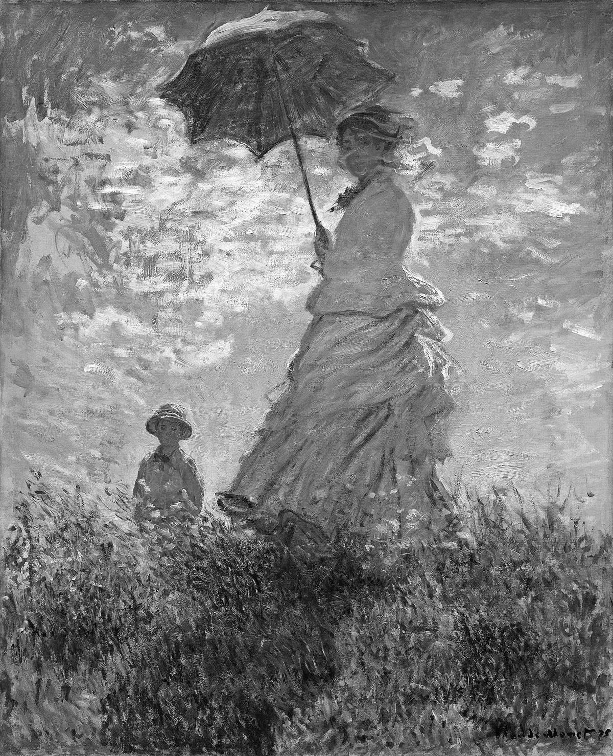Claude Monet: Hölgy napernyővel