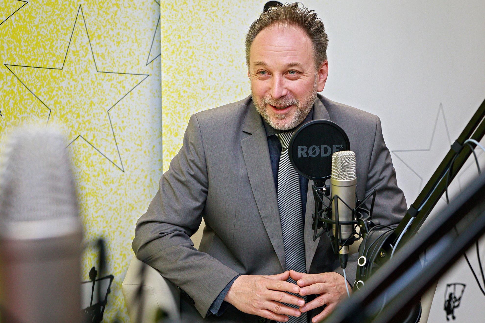 Fekete Péter kultúráért felelős államtitkár a Faktum műsorának felvételén
