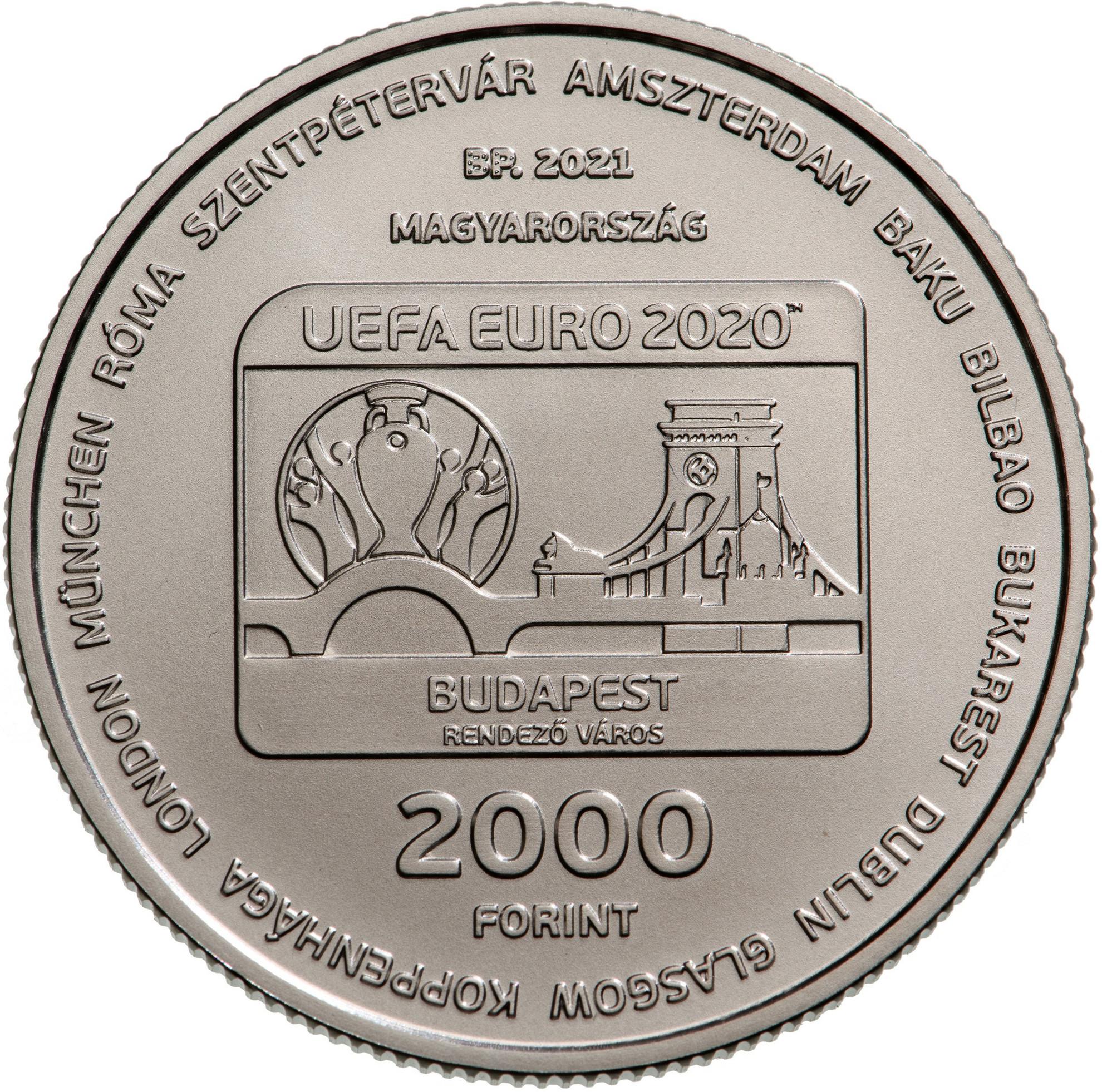 Emlékérme-kibocsátás az UEFA EURO2020 Labdarúgó-Európa-bajnokság tiszteletére