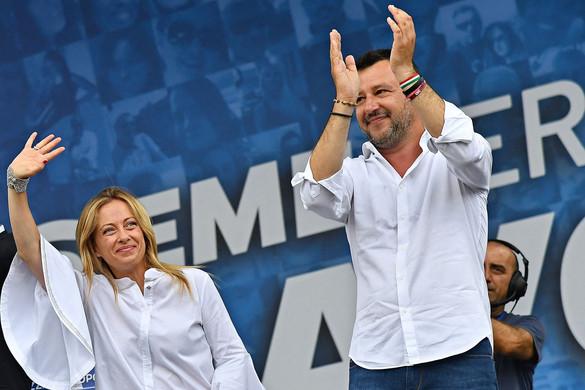 Fej-fej mellett Salvini és Meloni