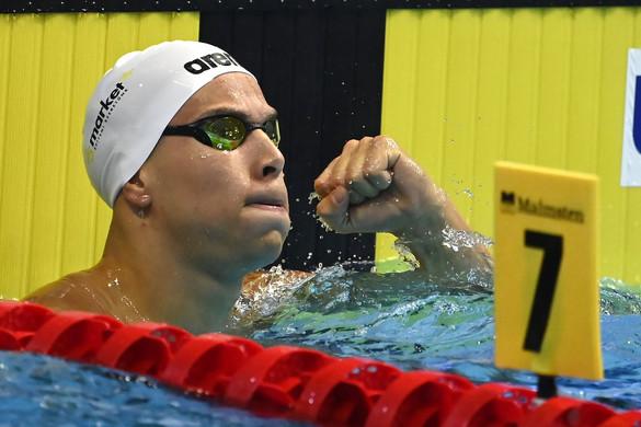 Szabó Szebasztián aranyérmes 50 méter pillangón