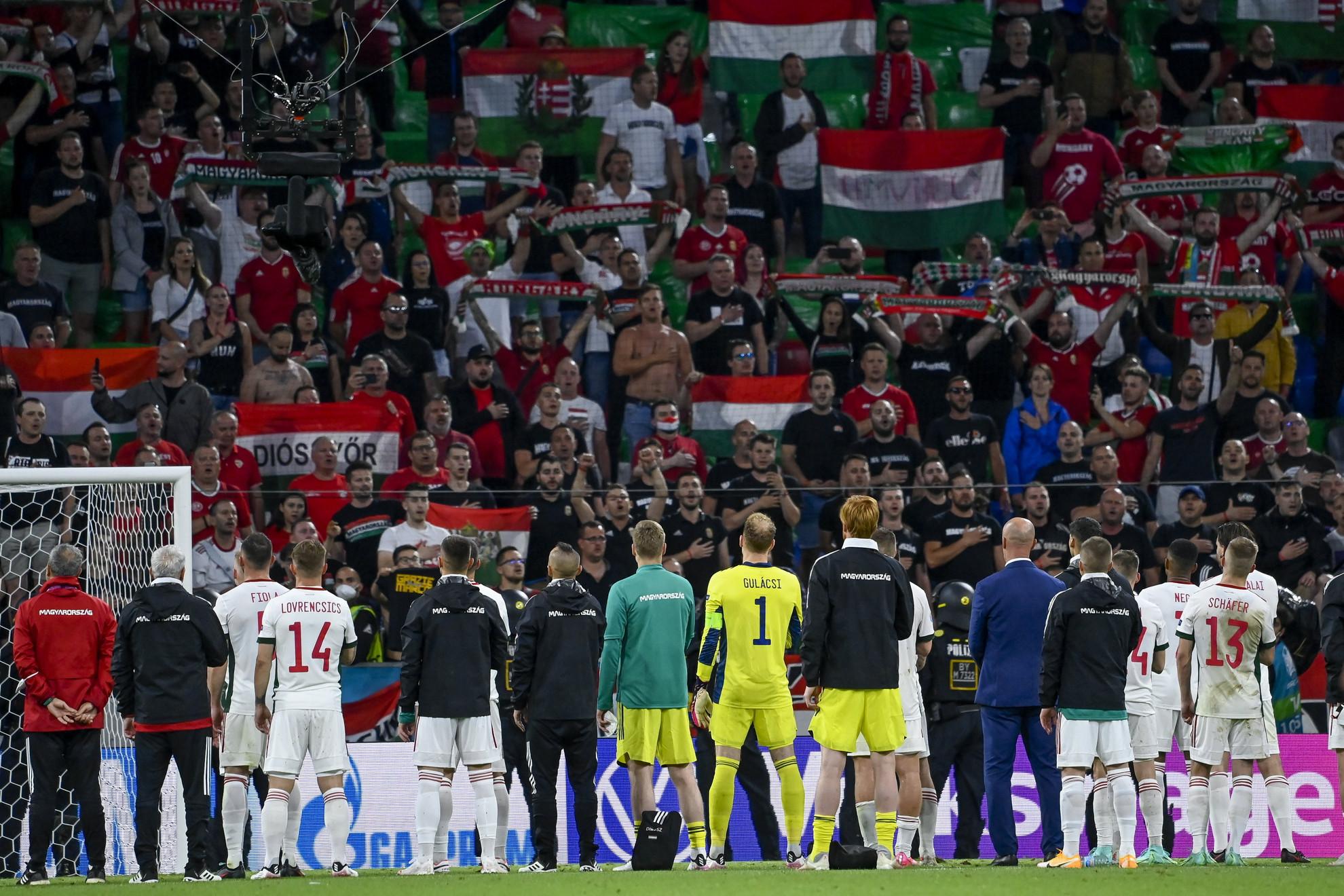 Büszkén szólhatott a magyar Himnusz a szurkolók torkából a müncheni Allianz Arénában