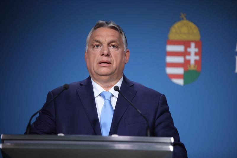 Orbán Viktor a kormányinfón 2021. június 10-én