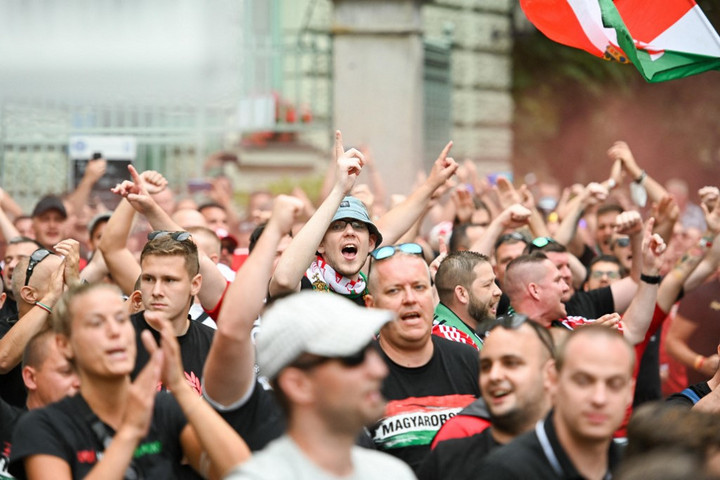 Így hangoltak a németek elleni meccs előtt a magyar szurkolók