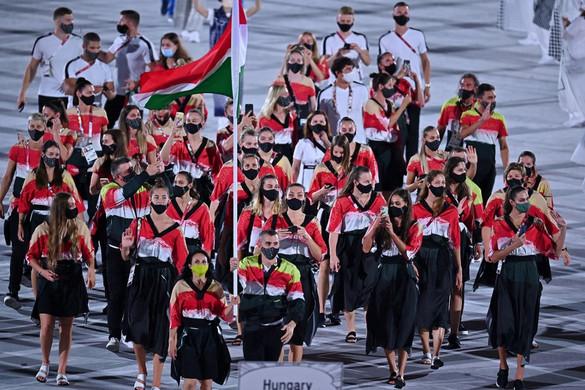Cseh László és Mohamed Aida vezetésével vonultak be a magyarok az olimpia megnyitóján