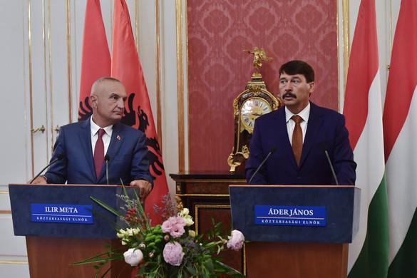 Áder: Magyarország továbbra is támogatja Albánia EU-csatlakozását