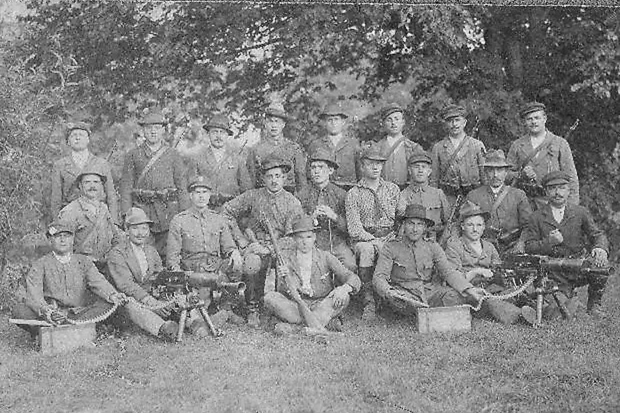 Rongyos Gárda-rohamosztag 1921 szeptemberében