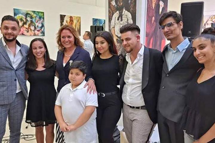 Roma képzőművészek a Hírös 7 fesztiválon