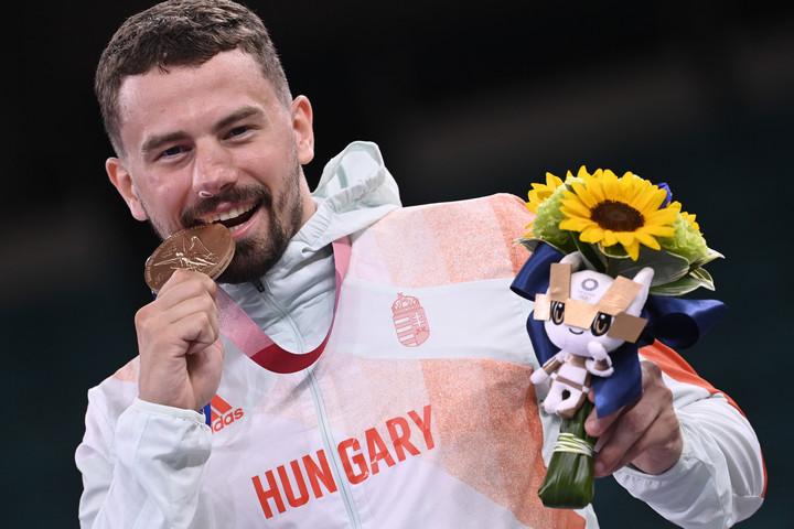 A karatés Hárspataki Gábor bronzérmes az olimpián