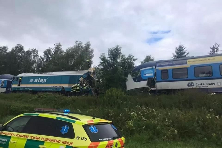Súlyos vonatbaleset történt Csehországban
