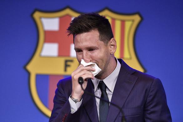 Lionel Messi könnyek között búcsúzott a Barcelonától