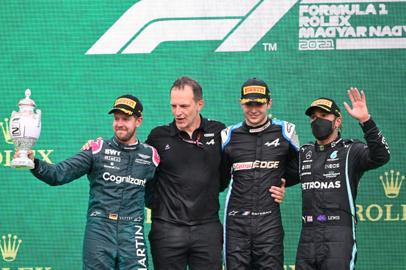 Ocon nyerte Vettel előtt a Magyar Nagydíjat