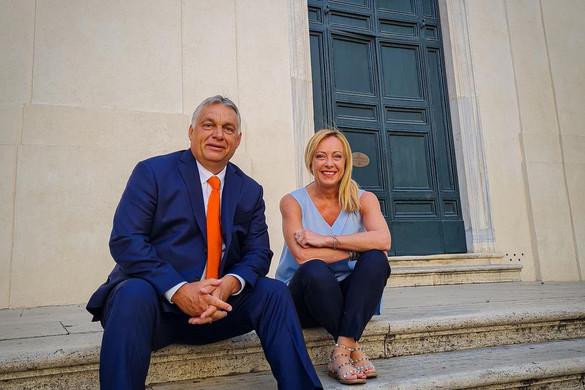 Orbán Viktor Rómában tárgyalt Giorgia Melonival