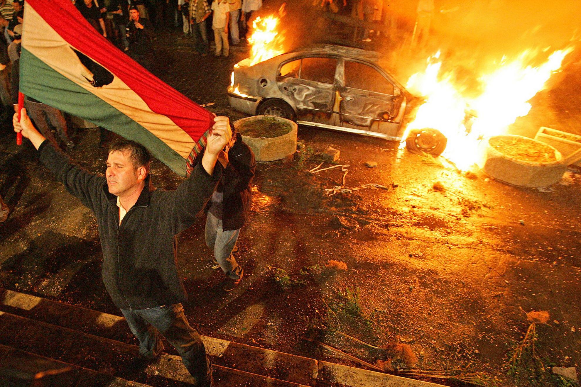 A beszédet követően Budapesten elszabadultak az indulatok